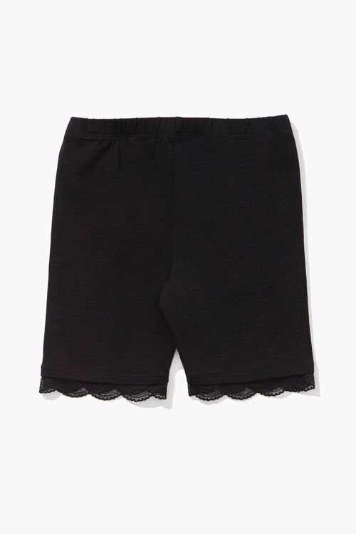 Girls Lace-Trim Biker Shorts (Kids), image 2