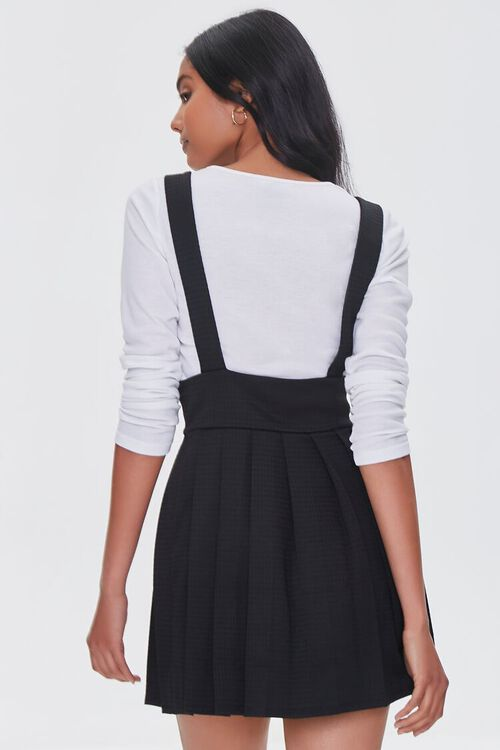 BLACK Pleated Pinafore Dress, image 3