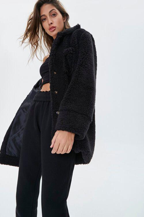 Faux Shearling Drop-Sleeve Jacket, image 1