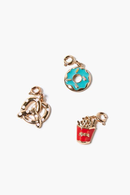 GOLD/RED Snack Food Charm Set, image 1