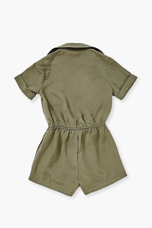 OLIVE Buttoned Collared Romper, image 2