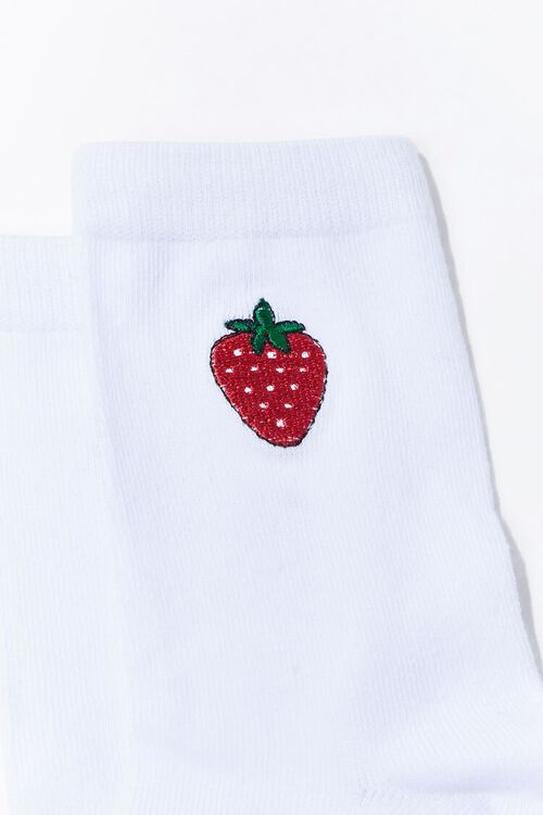 Strawberry Crew Socks, image 3
