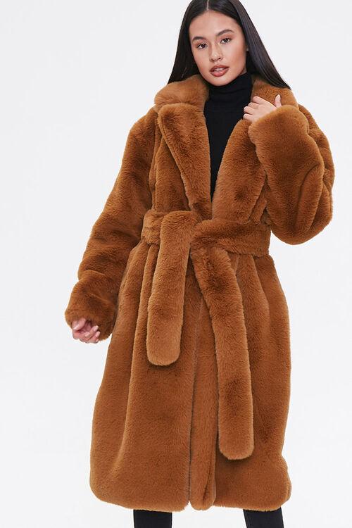 Faux Fur Longline Coat, image 4