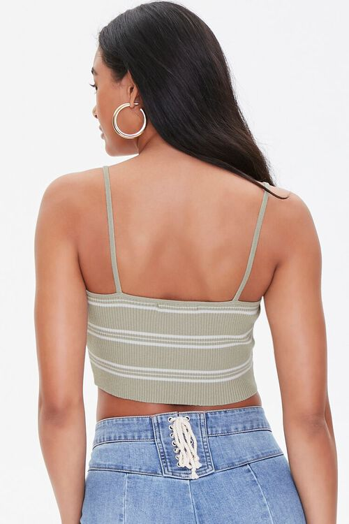 Striped Lace-Up Cropped Cami, image 3