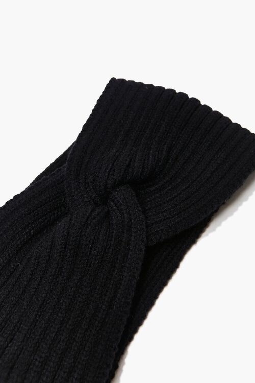 BLACK Ribbed Twisted Headwrap, image 3