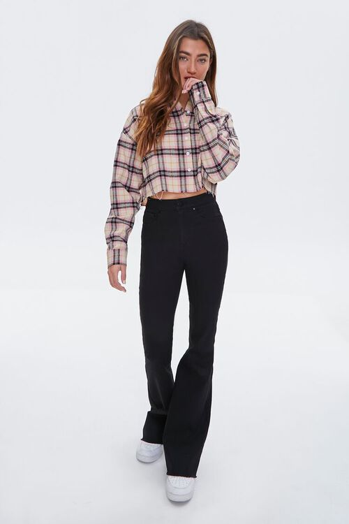 Cropped Flannel Shirt, image 4