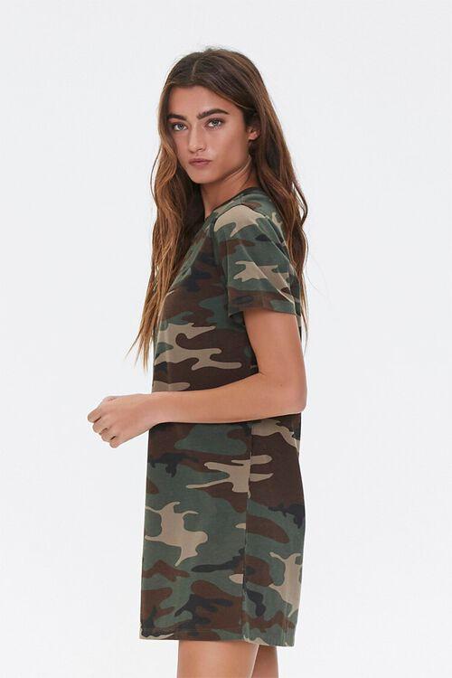 Camo Print T-Shirt Dress, image 3