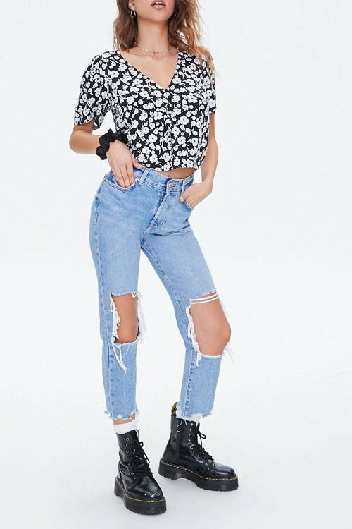 Floral Button-Up Top, image 4