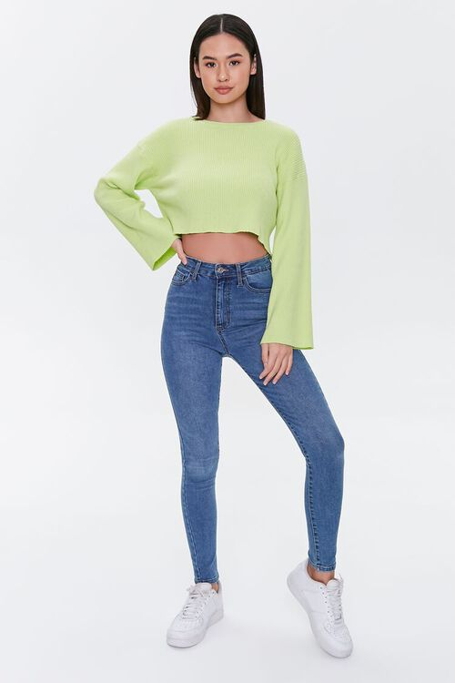 Cropped Bell-Sleeve Sweater, image 4