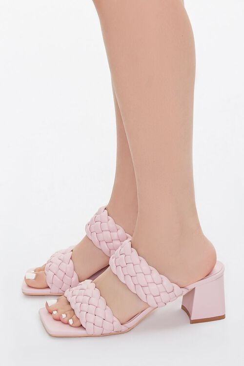 Braided Square-Toe Block Heels, image 2