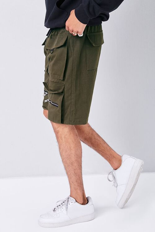 Drawstring Dual Cargo Shorts, image 3