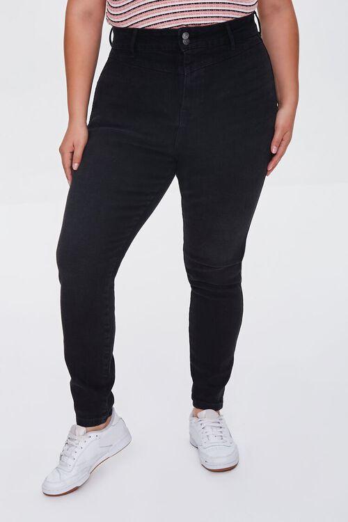 BLACK Plus Size Skinny Uplyfter Jeans, image 2