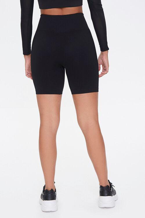 BLACK Active Seamless Biker Shorts, image 4