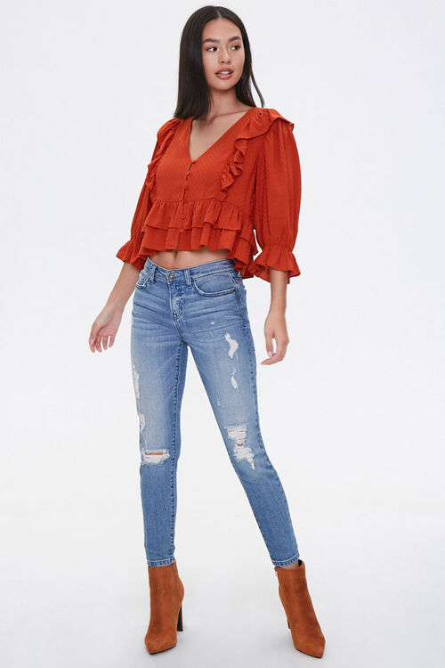 Ruffle-Trim Crop Top, image 4