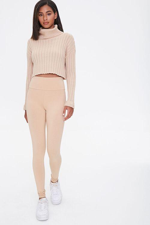 Cotton-Blend High-Rise Leggings, image 1