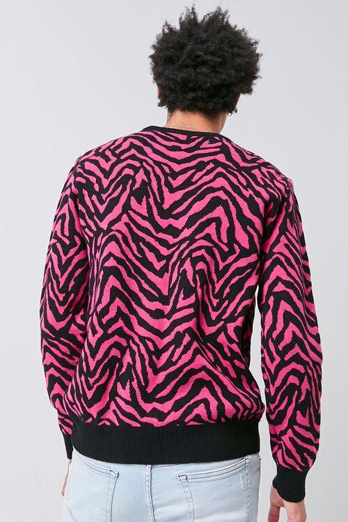 Tiger Striped Crew Neck Sweater, image 3