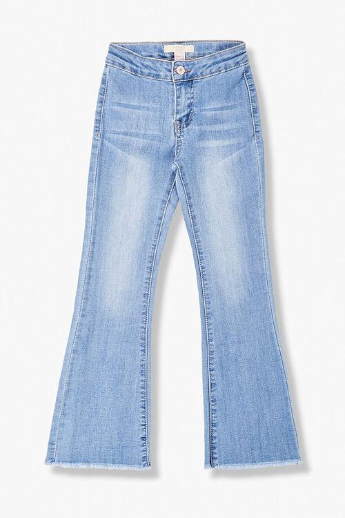 Girls Patch-Pocket Flare Jeans (Kids), image 1