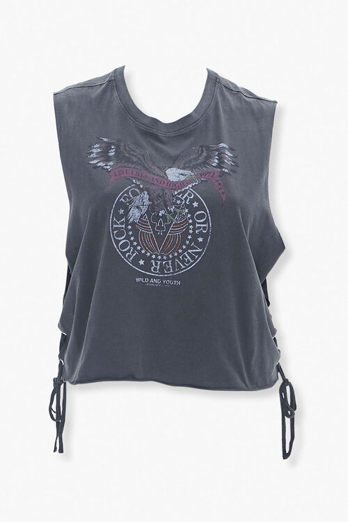 Plus Size Live Free Graphic Muscle Tee, image 1