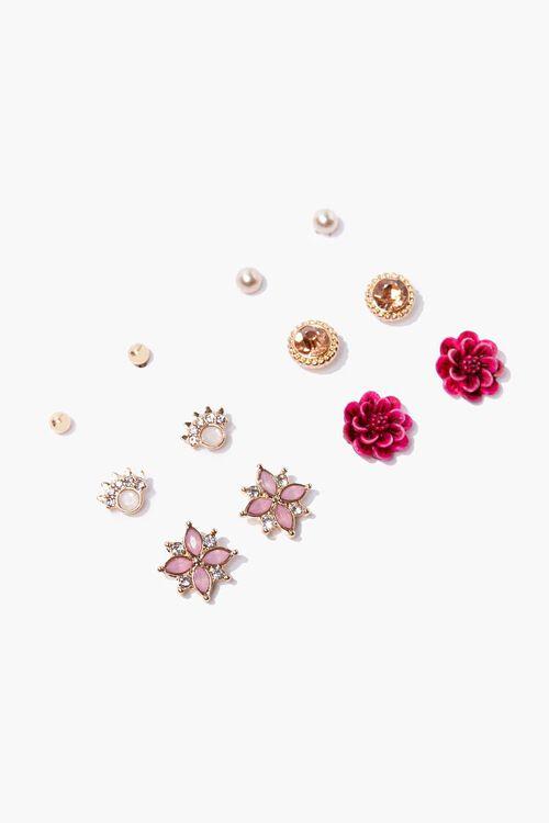 Floral Stud Earring Set, image 1