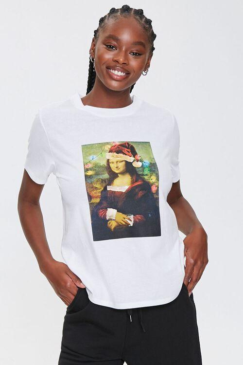 Christmas Mona Lisa Tee, image 1