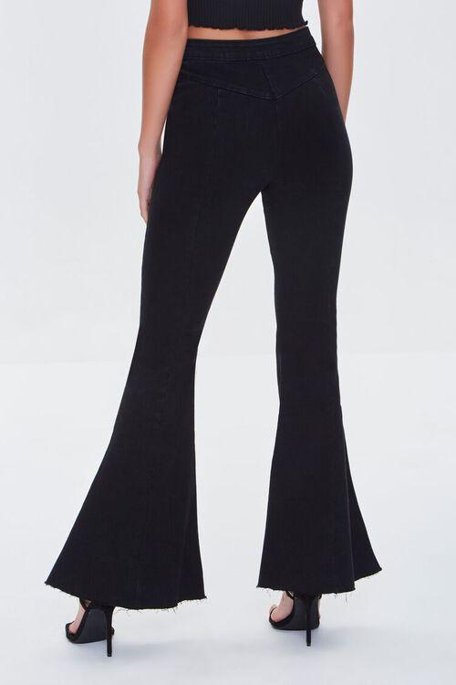 WASHED BLACK Premium Flare Jeans, image 4