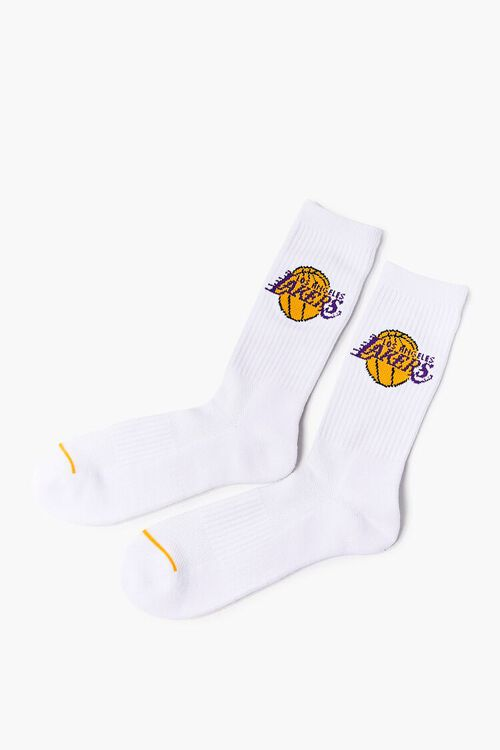 Women Los Angeles Lakers Crew Socks, image 2