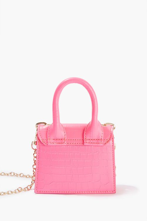 Faux Croc Leather Crossbody Bag, image 3