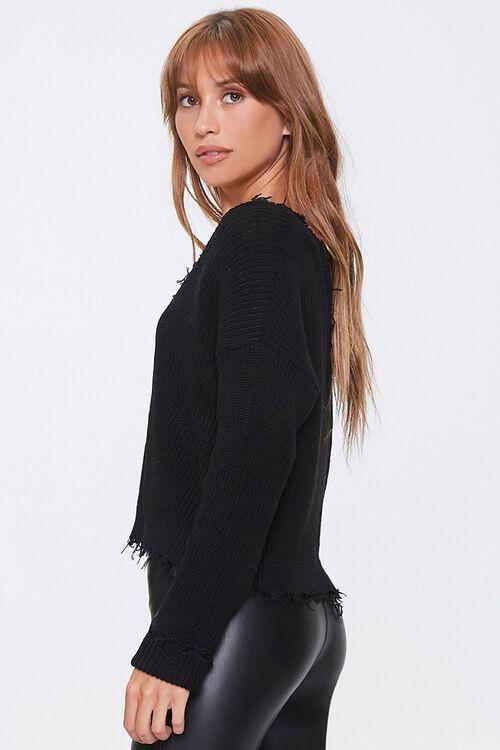Ribbed Distressed-Trim Sweater, image 2
