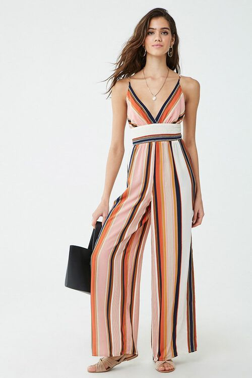 Striped Cami Jumpsuit, image 4
