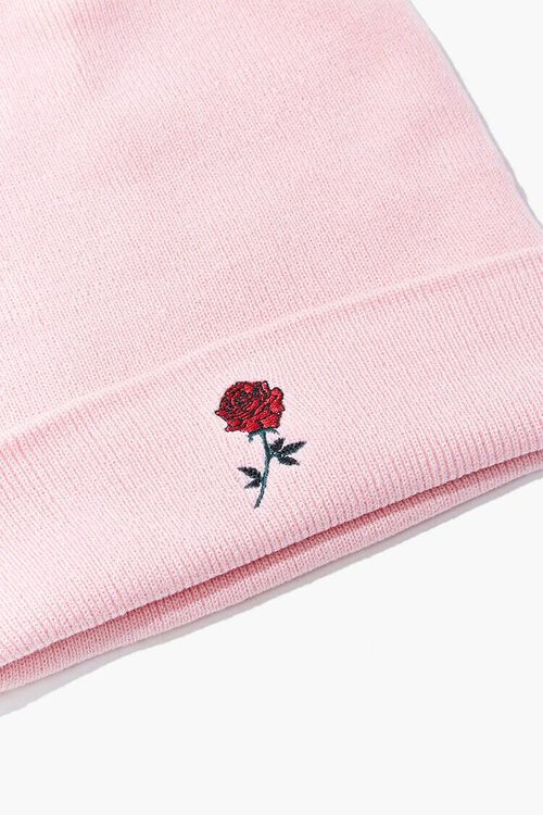 Embroidered Rose Beanie, image 3
