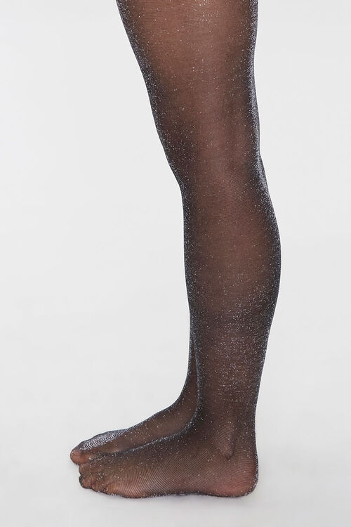 Sheer Glitter Knit Tights, image 2