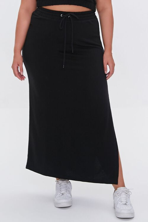 Plus Size Crop Top & Maxi Skirt Set, image 5