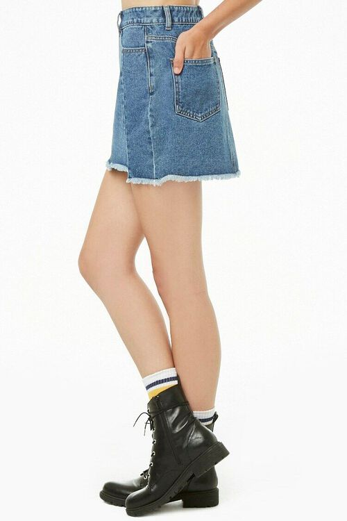 Step Hem Denim Mini Skirt, image 3