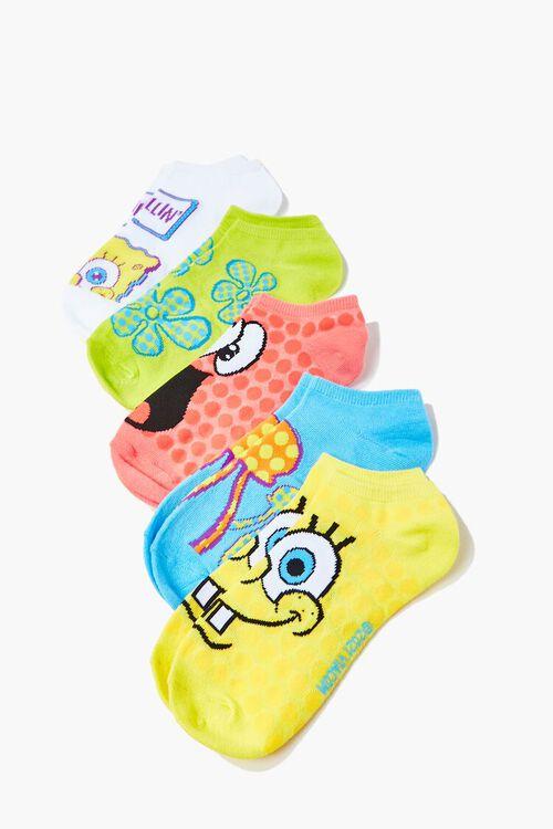 SpongeBob SquarePants Ankle Socks Set - 5 Pack, image 1