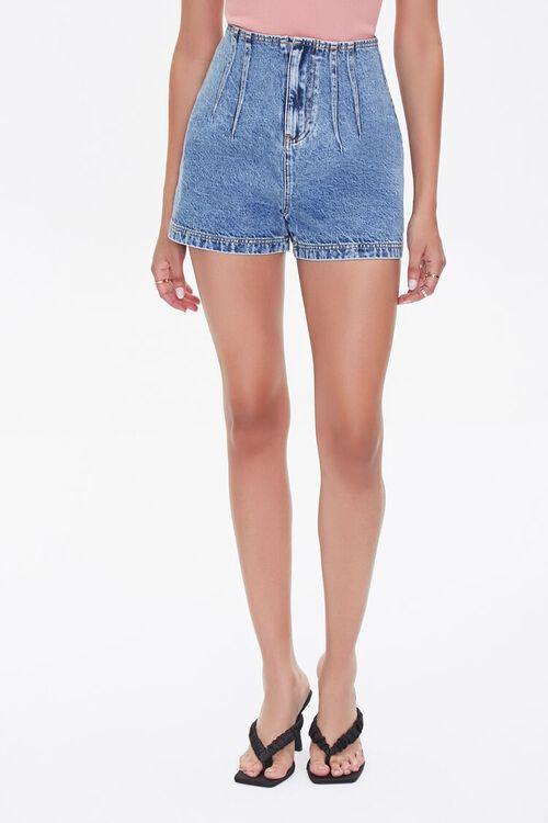 Acid Wash Denim Shorts, image 2
