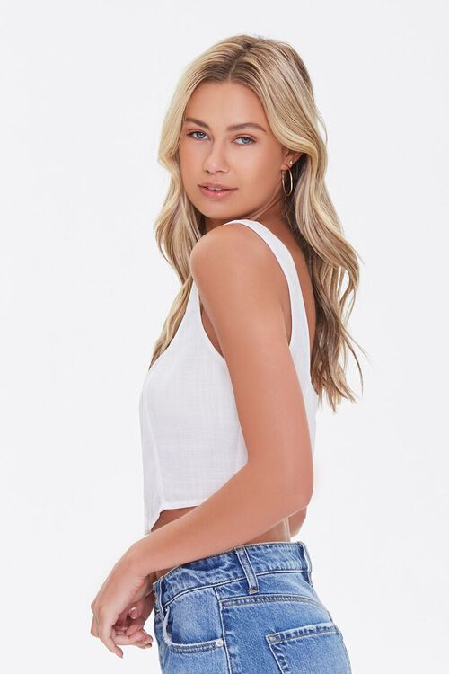Cropped Button-Front Tank Top, image 2
