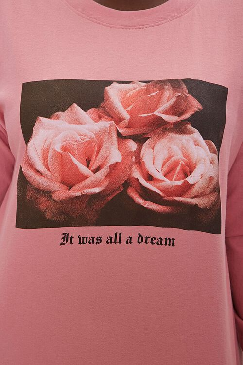 Plus Size Floral Long-Sleeve Tee, image 5