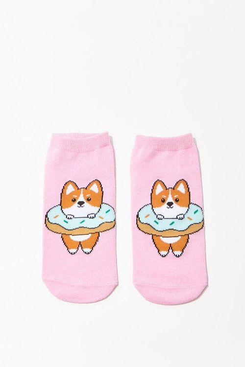 Corgi Graphic Ankle Socks, image 1