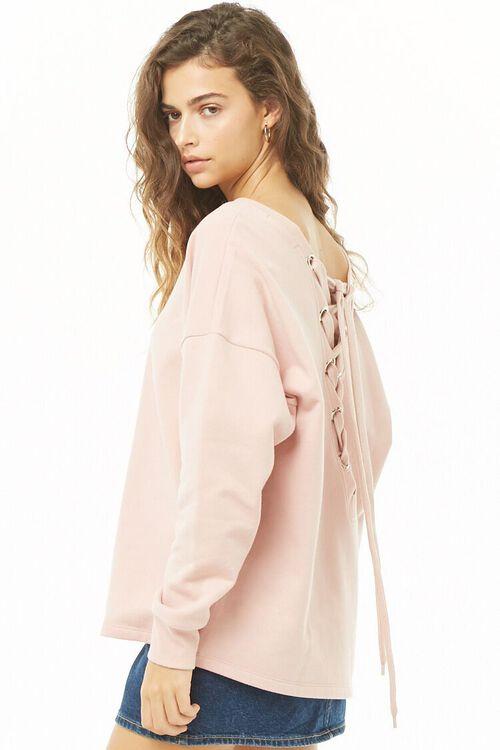 MAUVE/MAUVE Lace-Up Sweatshirt, image 3