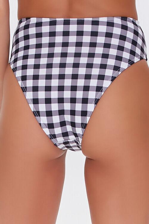 Tie-Front Gingham Bikini Bottoms, image 4