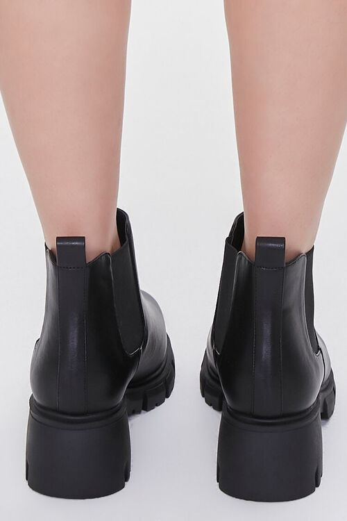 Faux Leather Chelsea Booties (Wide), image 3