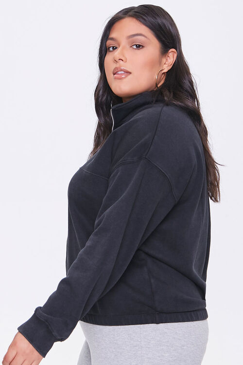 Plus Size Fleece Half-Zip Pullover, image 2