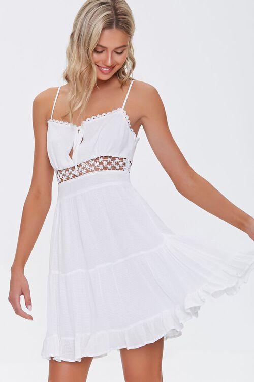 Lace-Trim Mini Dress, image 1