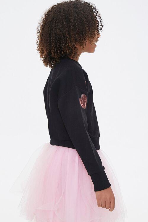 Girls Metallic Graphic Sweatshirt (Kids), image 2