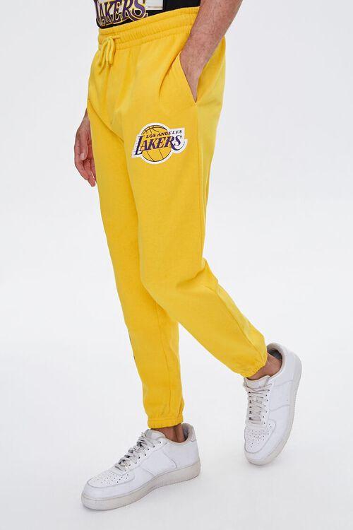 YELLOW/PURPLE Lakers Graphic Fleece Joggers, image 3