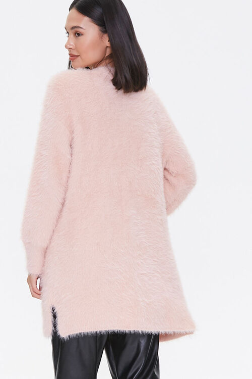 Fuzzy Knit Open-Front Cardigan, image 3