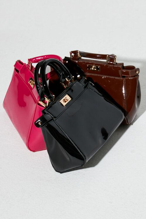 Faux Patent Leather Crossbody Bag, image 1