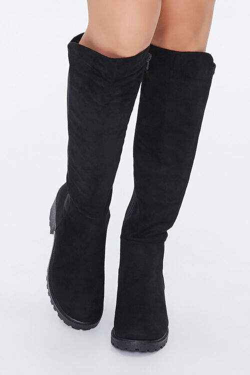 Faux Suede Knee-High Boots, image 4