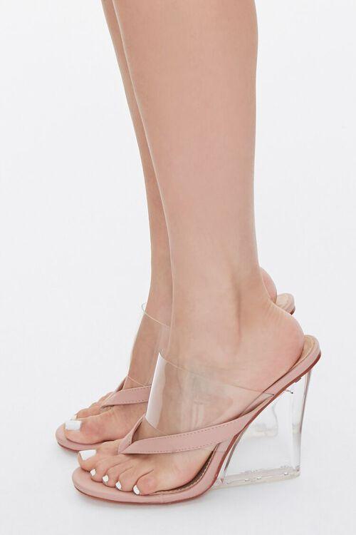 Toe-Thong Lucite Wedge Heels, image 2