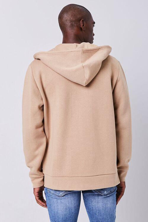 TAUPE Fleece Zip-Up Hoodie, image 3